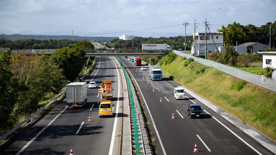 交通規制作業